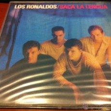 Discos de vinilo: LOS RONALDOS - SACA LA LENGUA - LP 1988 - . Lote 115890622