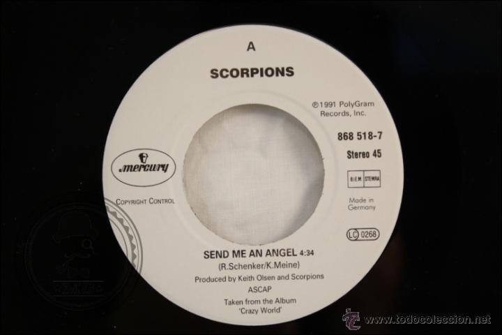 Discos de vinilo: Single Vinilo - 45 RPM - Scorpions - Send Me An Angel - Edita Mercury - 1991 - Alemania - Foto 2 - 41959942