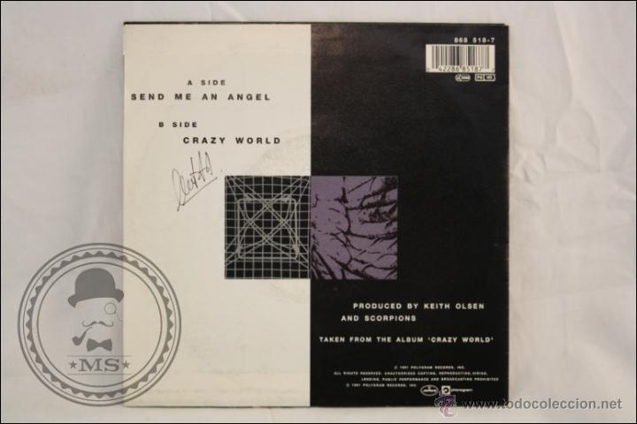 Discos de vinilo: Single Vinilo - 45 RPM - Scorpions - Send Me An Angel - Edita Mercury - 1991 - Alemania - Foto 3 - 41959942