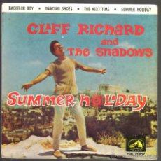 Discos de vinilo: CLIFF RICHARD AND THE SHADOWS. DE LA PELICULA SUMMER HOLIDAY. EP 4 CANCIONES. LA VOZ DE SU AMO 1963. Lote 46020298