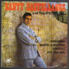 Discos de vinilo: SANTI CASTELLANOS Y EL TRIO FESTIVAL. CARTAGENERA + 3. EP. MARFER 1965. LITERACOMIC.. Lote 41964551