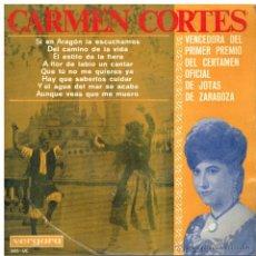 Discos de vinilo: CARMEN CORTÉS - SI EN ARAGÓN LA ESCUCHAMOS / DEL CAMINO A LA VIDA, ETC - EP 1965. Lote 41966936