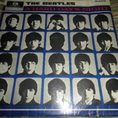 Discos de vinilo: THE BEATLES - A HARD DAY´S NIGHT LP - ORIGINAL INGLES - PARLOPHONE 1964 - YELLOW/BLACK LABEL MONO. Lote 41990475