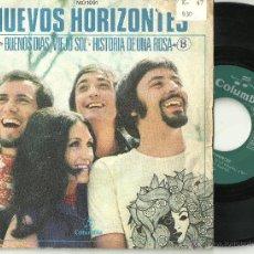 Discos de vinilo: NUEVOS HORIZONTES BUENOS DIAS VIEJO SOL + 1 RARO SINGLE PROMO COLUMBIA 1971 @ VAINICA DOBLE. Lote 30773899