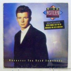 Discos de vinilo: RICK ASTLEY - 'WHENEVER YOU NEED SOMEBODY' (LP VINILO) - PEDIDO MÍNIMO 8€. Lote 287789073