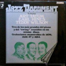 Discos de vinilo: ART TATUM, EARL HINES, TEDDY WILSON - GRABACIONES MEMORABLES - LP ESPAÑA. Lote 42032556