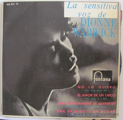 DIONNE WARWICK - NO LO QUIERO + 3 TEMAS - E.P. 1965 (Música - Discos de Vinilo - EPs - Funk, Soul y Black Music)