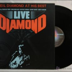 Discos de vinilo: DISCO LP VINILO - NEIL DIAMOND - AT HIS BEST. LIVE - EDITA MCA RECORDS / ARIOLA - 1982 - ESPAÑA. Lote 42054403
