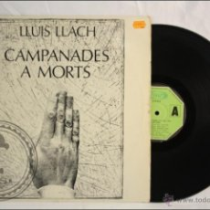 Discos de vinilo: DISCO LP VINILO - LLUIS LLACH - CAMPANADES A MORTS - EDITA MOVIEPLAY - 1977 - ESPAÑA - CATALÁN. Lote 42054621