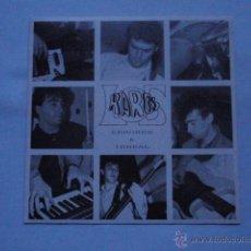 Discos de vinilo: LOS RAROS - ERRORES IRREAL SINGLE 1988 GARAGE ROCK. Lote 42055214