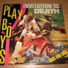 Discos de vinilo: LP THE PLAYBOYS INVITATION TO DEATH - FURY RECORDS 1989 ENGLAND , RARE PSYCHOBILLY. Lote 42061513