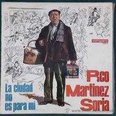 Discos de vinilo: LP PACO MARTÍNEZ SORIA LA CIUDAD NO ES PARA MÍ (VERGARA, 1967). Lote 45887819