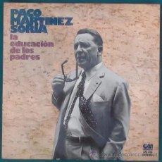 Discos de vinilo: LP PACO MARTÍNEZ SORIA LA EDUCACIÓN DE LOS PADRES (GRAMUSIC, 1976). Lote 42066669