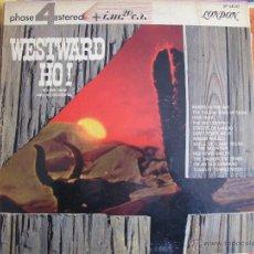 Disques de vinyle: LP - ROLAND SHAW AND HIS ORCHESTRA - WESTWARD HO (ENGLAND, LONDON RECORDS SIN FECHA, PORTADA DOBLE). Lote 42085252