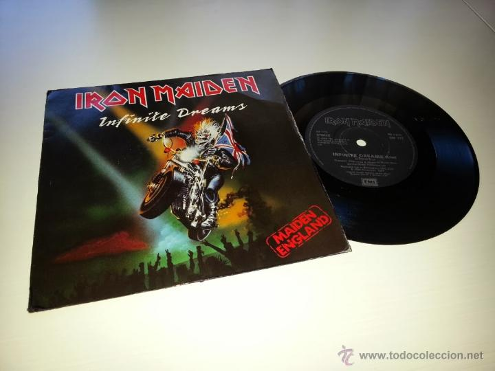 IRON MAIDEN - INFINITE DREAMS - ORIGINAL UK ENGLAND SINGLE - EMI EM 117 - VINILOVINTAGE (Música - Discos - Singles Vinilo - Heavy - Metal)