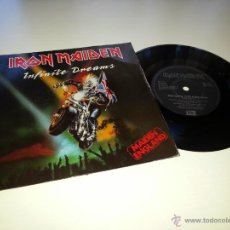 Discos de vinilo: IRON MAIDEN - INFINITE DREAMS - ORIGINAL UK ENGLAND SINGLE - EMI EM 117 - VINILOVINTAGE. Lote 42098233