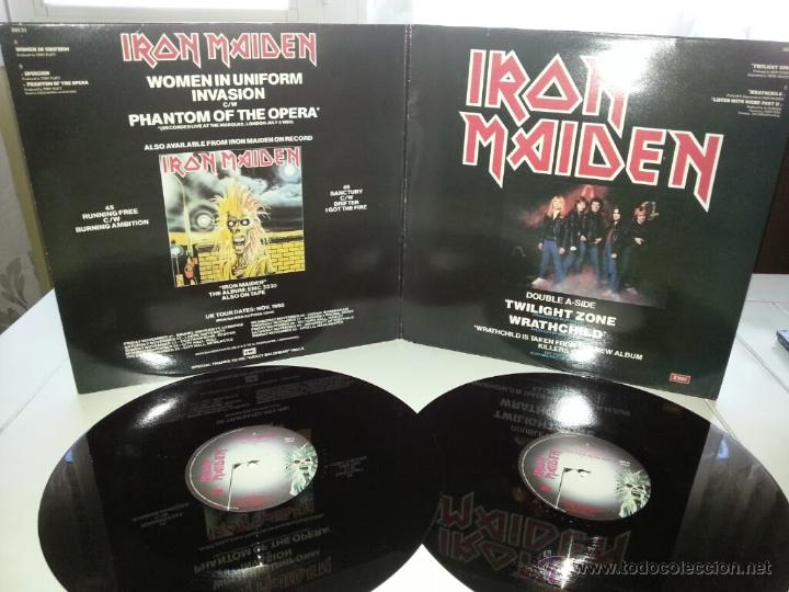 IRON MAIDEN - TWILIGHT ZONE - UK ENGLAND DOBLE MAXI GATEFOLD COVER - FIRST TEN YEARS - VINILOVINTAGE (Música - Discos de Vinilo - Maxi Singles - Heavy - Metal)