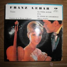 Discos de vinilo: FRANZ LEHAR. VALSES. LA VIUDA ALEGRE + 3. EP. ORQUESTA DE LA WIENER VOLKSOPER. VERGARA 1962. Lote 42112157