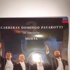 Discos de vinilo: CARRERAS DOMINGO PAVAROTTI EN CONCIERTO - MEHTA. Lote 42113367