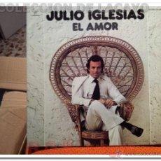 Discos de vinilo: LP - JULIO IGLESIAS**EL AMOR**LP DOBLE PORTADA AÑO 1975. Lote 42116035