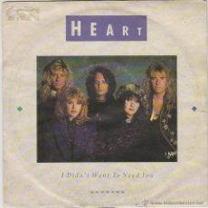 Discos de vinilo: HEART - I DIDN'T WANT TO NEED YOU - THE NIGHT, EDITOR: CAPITO RECORDS DE LOS ESTADOS UNIDOS . Lote 42140272