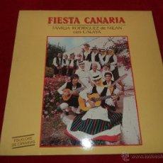 Discos de vinilo: FOLKLORE CANARIO.- LP-1985.- FAMILIA RODRÍGUEZ DE MILÁN CON CALAYA. Lote 42141801