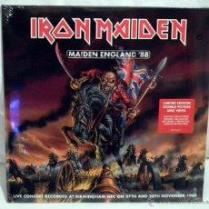 Discos de vinilo: LP IRON MAIDEN - MAIDEN ENGLAND ´88. Lote 42146335
