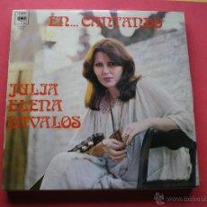 Discos de vinilo: JULIA ELENA DAVALOS - EN...CANTANDO - CBS 1979 LP CON HOJA BIOGRAFIA PEPETO. Lote 42165524