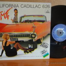 Discos de vinilo: T.M.F FEAT THOMY FUCHSBERGER - CALIFORNIA CADILLAC - MAXI SINGLE / RAF RECORDS / 1984. ****/****. Lote 42171717