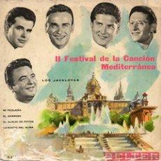 Discos de vinilo: JAVALOYAS - CANCION MEDITERRANEA, EP, EL ALBUN DE FOTOS + 3 , AÑO 1960. Lote 42184248