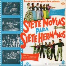 Discos de vinilo: B.S.O. SIETE NOVIAS PARA SIETE HERMANOS, EP, LAMENTO + 3 , AÑO 1960. Lote 42185220