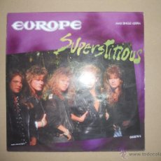Discos de vinilo: EUROPE (MAXI) SUPERSTITIOUS +2 TRACKS AÑO 1988. Lote 42189422