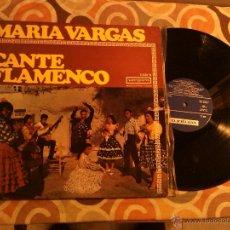 Discos de vinilo: MARIA VARGAS - CANTE FLAMENCO LP - VERGARA - 1967 . Lote 42191016