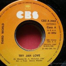 Discos de vinilo: THIRD WORLD / TRY JAH LOVE+ INNA TIME LIKE THIS/SINGLE CBS 1982 SPAIN PEPETO. Lote 42191100