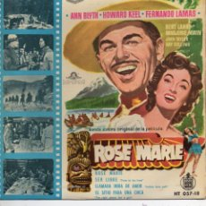 Discos de vinilo: B. S. O. FILM ROSE MARIE, EP, ROSE MARIE + 3 , AÑO 1960. Lote 42196990