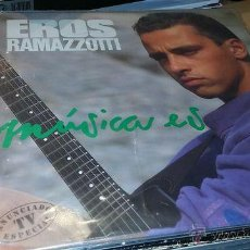 Discos de vinilo: EROS RAMAZZOTTI - MUSICA ES. Lote 42200606