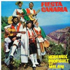 Discos de vinilo: HERMANOS RODRÍGUEZ DE MILAN - FIESTA CANARIA - EP 1972 - PORTADA DOBLE - BUEN ESTADO. Lote 42203826
