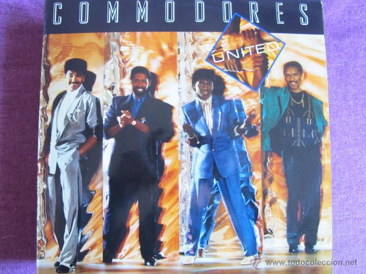 LP - COMMODORES - UNITED (SPAIN, POLYDOR 1986) (Música - Discos - LP Vinilo - Funk, Soul y Black Music)