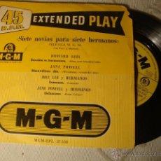 Discos de vinilo: DISCO SINGLE EP ES DE LOS AÑOS 60/70 BANADA SONORA PELICULA SIETE NOVIAS PARA SIETE HERMANOS. Lote 42227934