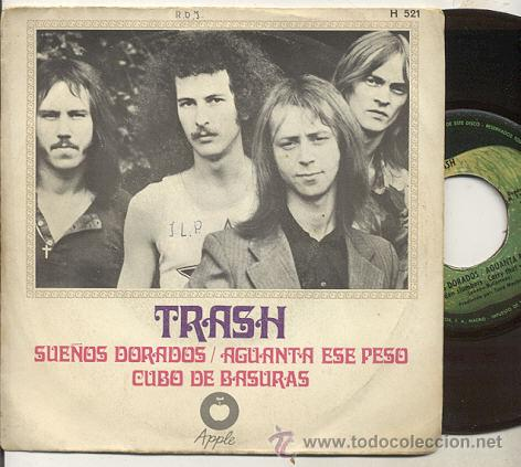 SINGLE 45 RPM / TRASH ( BEATLES ) SUEÑOS DORADOS // EDITADO POR APPLE SPANISH 1969 (Música - Discos de Vinilo - Maxi Singles - Pop - Rock Extranjero de los 50 y 60)