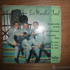 Discos de vinilo: LOS MARCELLOS FERIAL. CUANDO BRILLA LA LUNA + 3. EP. DURIUM 1963. Lote 42253976