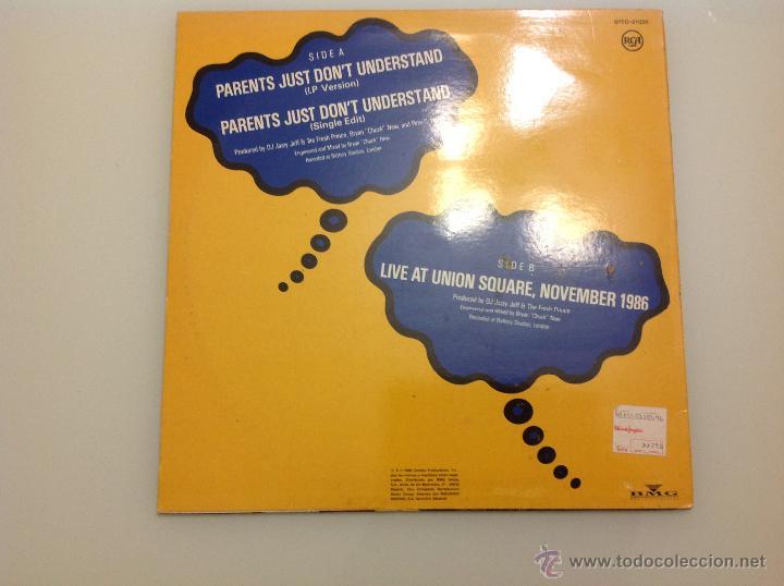 Discos de vinilo: PARENTS JUST DON´T UNDERSTAND PRINCIPE DE BELL AIR THE FRESH PRINCE - Foto 2 - 42256066