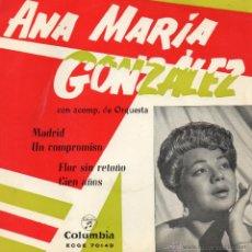 Discos de vinilo: ANA MARÍA GONZÁLEZ, EP, MADRID + 3 , AÑO 1960. Lote 42262872