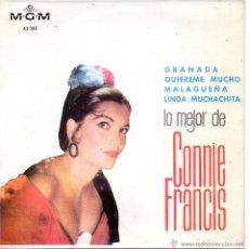 Discos de vinilo: CONNIE FRANCIS, EP, GRANADA + 3 , AÑO 1964. Lote 42263353
