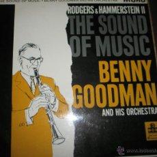 Discos de vinilo: LP-VINILO-GRAN BRETAÑA-THE SOUND OF MUSIC-BENNY GOODMAN AND HIS ORCHESTRA-MGM-9 TEMAS-1959-YELLOW L. Lote 42264496