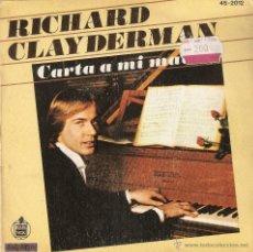 Discos de vinilo: VENDO SINGLE DE RICHARD CLAYDERMAN.. Lote 42267063
