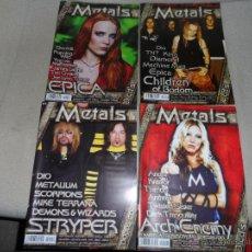 Discos de vinilo: LOTE DE 4 REVISTAS,10 CDS Y 2 VIDEO CD,REVISTA METALS,METALLICA ,MEGADETH,AC DC. Lote 134797955