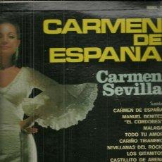 Discos de vinilo: CARMEN SEVILLA LP SELLO RCA VICTOR EDITADO EN MEXICO. Lote 42274471