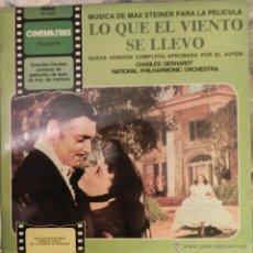 Discos de vinilo: VENDO LP, BANDA SONORA ORIGINAL DE LA PELICULA (LO QUE EL VIENTO SE LLEVO).. Lote 42280917