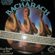 Discos de vinilo: =LP-VINILO-BURT BACHARACH-THE HAPPY HAMMOND PLAYS-1972-HALLMARK-12 TEMAS-.. Lote 42283018